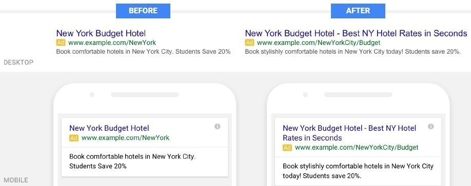 Google AdWords New vs Old